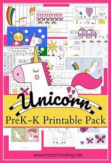 free unicorn for preschool and kindergarten totschooling toddler preschool