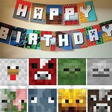 minecraft thank you card template minecraft birthday kit with gift printable