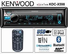 kenwood kdc x598 bluetooth car audio systems