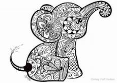 baby animal coloring pages for adults 17290 a better pic of the baby elephant doodle coloriage elephant coloriage mandala dessin coloriage