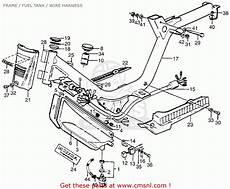 honda pa50ii hobbit 1979 z usa 30 mph frame fuel tank wire harness schematic partsfiche