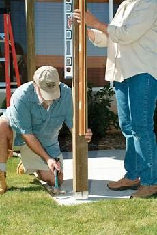 Wie Baue Ich Eine H 246 Lzerne Pergola Um Die Terrasse Zu