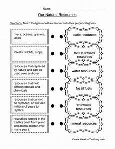 natural resources worksheets worksheet1d natural resources worksheet