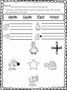 primary directions worksheets for grade 3 11693 location words practice pages morning work worksheets and cardinals