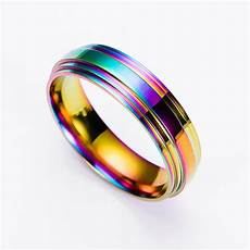 aliexpress com buy fashion men titanium ring high quality rainbow titanium wedding rings for