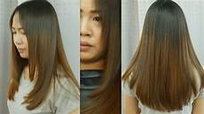 Hair And hair cut u shape ต ดผมยาวต ว ย