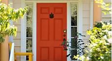 sherwin willaims sw 6883 raucous orange painted front doors orange front doors purple
