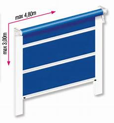store vertical guide coulisses coupe vent