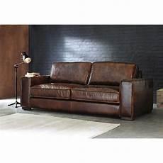sofa leder braun vintage sofa 3 sitzer aus leder braun colonel maisons
