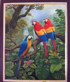 Gambar Lukisan Burung Pickini