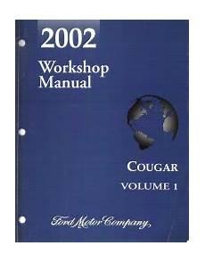 free auto repair manuals 2000 mercury cougar head up display 2002 mercury cougar factory workshop manual 2 volume set