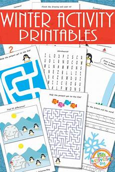 free activity worksheets 20305 printable winter activity sheets for