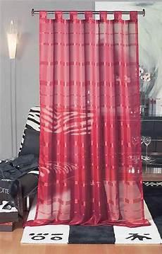 gardinen rot schlaufenschal melia rot 145x245 cm transparente