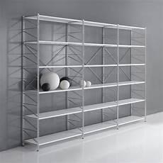 scaffali moderni librerie componibili in acciaio come creare scaffali e