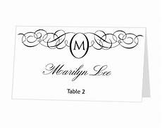 Avery Table Place Card Template Instant Avery Place Card Template Monogram