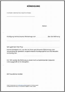 Kündigung Mietvertrag Vorlage Zum Ausdrucken - untermietvertrag formular gratis zum
