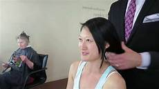 dramatic long hair cut short makeover by christopher makeover asian hair long to short by christopher hopkins the makeover guy 174 dramatic