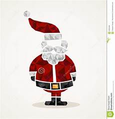 merry christmas trendy santa claus triangle shape eps10 file stock vector illustration of
