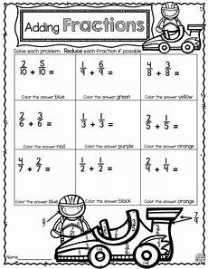 fraction worksheets beginner 3853 adding fractions color by number activities adding fractions math and number worksheets