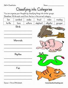 sorting and classification worksheets 7771 animal worksheet teaching