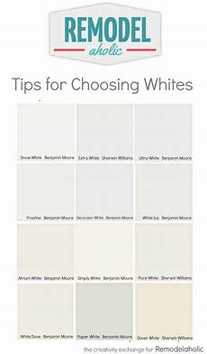 remodelaholic tricks for choosing the white paint color