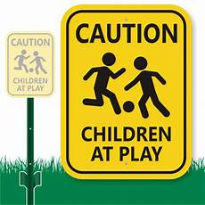 children at play sign caution sign for lawn