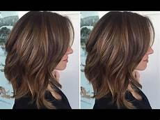 how to cut a long layered bob haircut tutorial step by