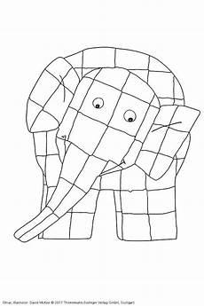 Ausmalbilder Elefant Elmar Elmar Mckee Malen Ausmalen Vorlage Kinderbuch Autor