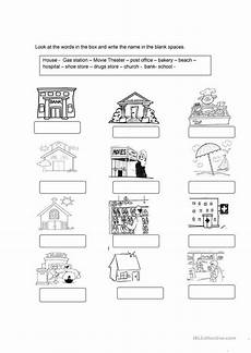 places in my community worksheets 15963 community services clase de ingl 233 s actividades de ingles y fichas ingles