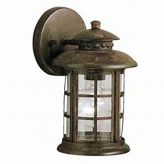 kichler rustic 10 in h rustic outdoor wall light at lowes com