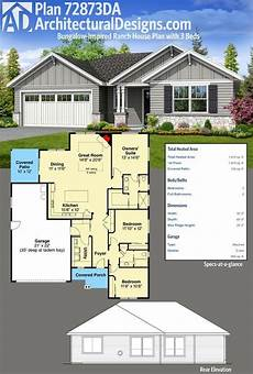 bungalow house plans alberta plan 72873da bungalow inspired ranch house plan with 3