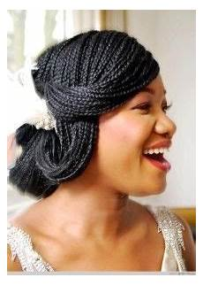 Black Braided Hairstyles For Weddings