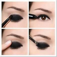 fard paupiere noir tutoriel maquillage yeux marrons