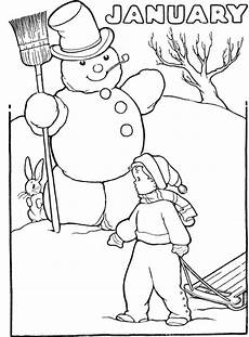 Neujahr Malvorlagen Januarie Winter Coloring Pages Seasons Coloring Pages Coloring