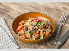 mexican chicken with mixed up rice and beans image
