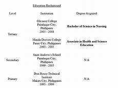 curriculum vitae resume writing for online