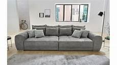 microfaser sofa big sofa moldau xxl couch in microfaser grau mit kissen