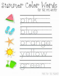 colors tracing worksheets 12820 tot school tuesdays summer pre writing prints mine for the