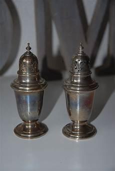 salt and silver vintage gorham sterling silver salt pepper shakers from