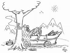 car crash drawing sketch coloring page