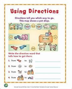 using directions grade 1 map skills printable maps and skills sheets