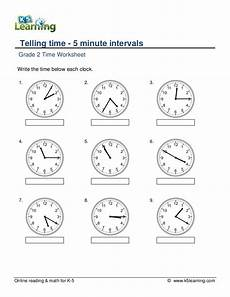 printable time worksheets grade 4 3738 grade 2 telling time 5 minute intervals a