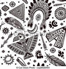 vektor muster seamless symbole indianer geb 252 rtig