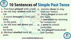 10 sentences of simple past tense english study here