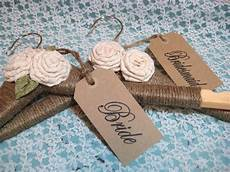 wedding dress hanger rustic chic personalized brides
