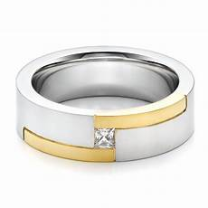 men s two tone and diamond wedding band 100123 seattle
