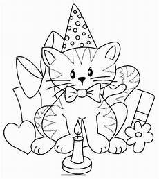 Ausmalbilder Geburtstag Katze Geburtstag Ausmalbilder Katzen Cat Coloring Page Cat