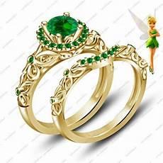 disney tinker bell fairies engagement ring band gold finish bridal via vorrafashion disney
