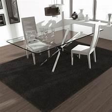 table design verre table en verre design pieds en croix sur cdc design