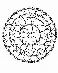 how to draw a mandala with free coloring pages